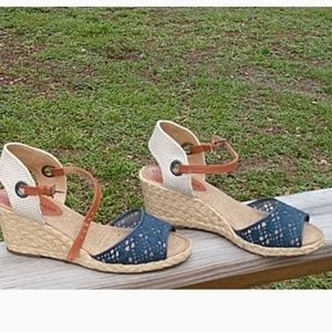 Lucky Brand wedge, espadrille size 7
